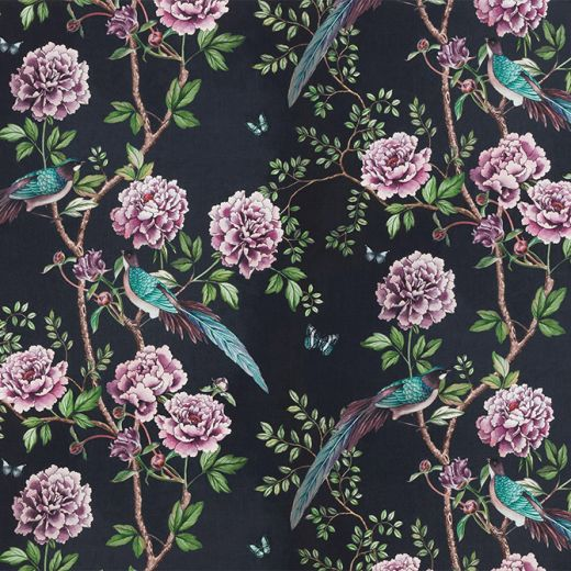 VINTAGE CHINOISERIE FABRIC